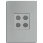 Free@Home Light Switch 10A 4 Button | SRCPFWB-4.1-W