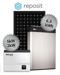 6kW Reposit Energy Trading System | SolaX and Trina