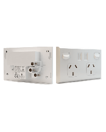 Socket Outlet Double 10A with USB